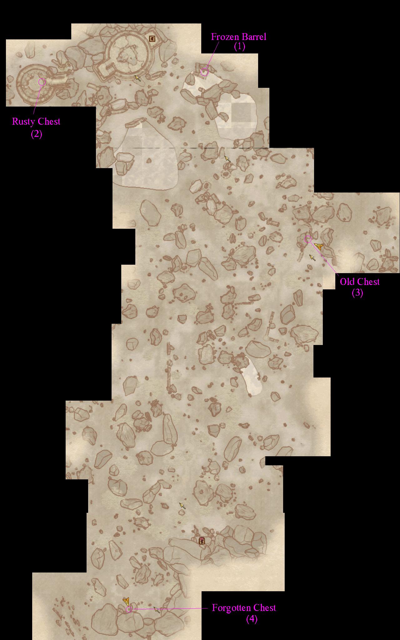 Oblivion Karte.Found A Chest In Pale Pass The Elder Scrolls Iv Oblivion Message